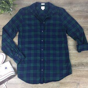 J. Crew | Factory Boy Fit Plaid Flannel Shirt